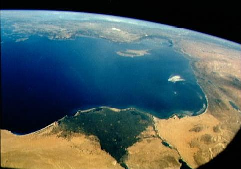 [Satellite photo of the eastern mediterranean sea]